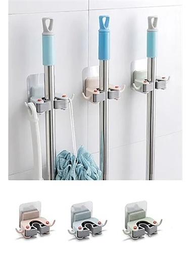 Bayev Paspas Süpürge Fırça Ve Mop Askısı Sap Tutucu Mutfak Banyo Askı (1 Adet) Renkli